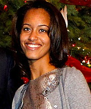 Malia Obama in recent weeks.